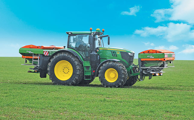 a john deere 6175r with the amazone za ts 1700