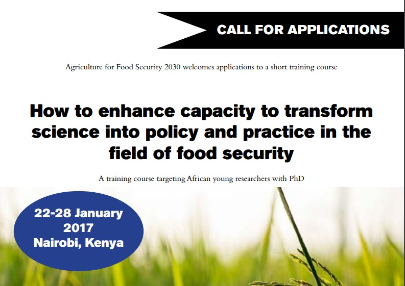 Policy for Agricultural Development in Africa