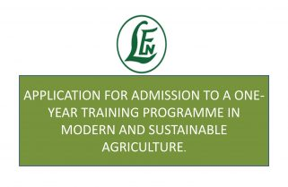 Leventis Foundation (Nigeria) One-Year Free Training Programme in Modern and Sustainable Agriculture (2017/2018)