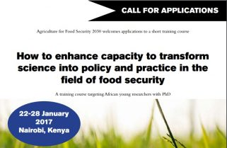 Fund: From Research to Policy for Agricultural Development in Africa
