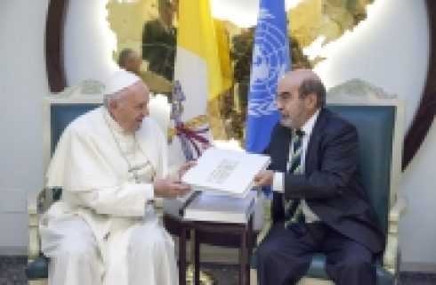 Pope Francis urges action on climate change and conflict to address migration